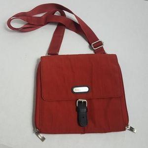 Baggallini rust small crossbody bag organization
